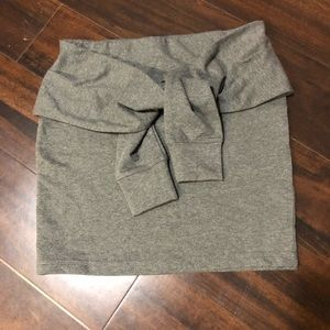 Forever 21 skirt with faux sleeves tie